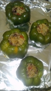 Vegetable stuffed peppers